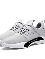 Men's Sneakers Light Soles Comfort Summer Fall Net Athletic Casual Lace-up Flat Heel Black Gray Light Grey Flat