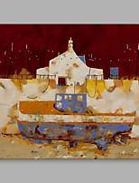 Ручная роспись Пейзаж Горизонтальная,Художественный 1 панель Холст Hang-роспись маслом For Украшение дома