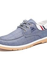 Для мужчин Кеды Удобная обувь Полотно Весна Лето Осень Зима Повседневные Для прогулок Удобная обувь Комбинация материаловНа плоской