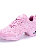Для женщин Танцевальные кроссовки Тюль Кроссовки Для открытой площадки Отделка На плоской подошве Белый Черный Розовый 2,5 - 4,5 см