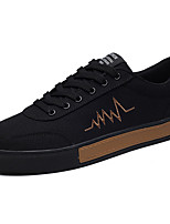 Для мужчин Кеды Удобная обувь Полиуретан Весна Лето Повседневные На низком каблуке Белый Черный Серый Менее 2,5 см