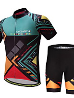 CYCEARTH Cycling Jersey Shorts Pants Short Sleeve Set Men's Bike Clothing Suits Clothes Summer Breathable Quick Dry CES1011