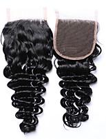 горящие продажи&Популярный 8-20 дюймов класс 8a натуральный черный глубокие волны бразильские человеческие волосы 4x4 кружевные