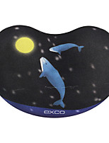 EXCO MSP020 Whale Anti-Skid Bottom Cloth Can Be Washed 10.5 * 7 * 2CM Mouse Pad Wrist