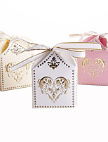 25pcs Gilding Heart Wedding Box Candy Boxes Wedding favors Portable Gift Box Party Favor Decoration