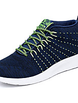 Men's Sneakers Comfort Light Soles Spring Fall Tulle Casual Outdoor Lace-up Flat Heel Black Gray Blue Flat