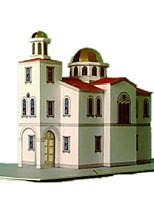 Пазлы Набор для творчества 3D пазлы Строительные блоки Игрушки своими руками Знаменитое здание Архитектура Плотная бумага