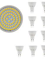 5W Spot LED MR16 80 SMD 2835 400 lm Blanc Chaud Blanc Froid Décorative AC 100-240 V 10 pièces