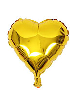 10pcs - 8inch Gold Heart Shaped Balloons Beter Gifts® DIY Party Decoration