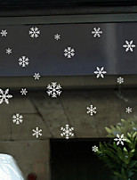 Window Film Window Decals Style Merry Christmas Snowflake PVC Window Film