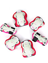 Kids' Protective Gear Knee Pads + Elbow Pads + Wrist Pads for Skateboarding Inline Skates Eases pain Breathable Luminous 6 pack Outdoor