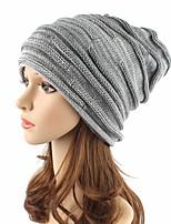 Unisex Acrylic Beanie Floppy Hat Headwear Cute Casual Chic & Modern Casual/Daily Knitwear Solid Fall Winter Pure Color Cap Khaki/Wine/Black/Grey