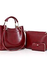 Donna sacchetto regola PU (Poliuretano) Per tutte le stagioni Secchiello Cerniera Nero Rosso Grigio Marrone