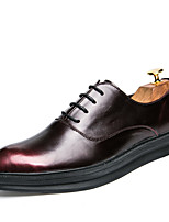 Men's Oxfords Clogs & Mules Spring Fall PU Wedding Outdoor Office & Career Casual Party & Evening Flat Heel Others Red/Black