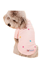 Dog Shirt / T-Shirt Dog Clothes Casual/Daily Floral/Botanical Blushing Pink Blue Gray