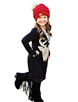 2017 New Fashion Girl's Print Dress Cotton Spring Fall Winter Long Sleeve Deer Head Kids Girls Dresses