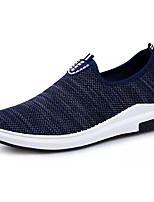 Men's Sneakers Comfort Spring Fall Tulle Casual Lace-up Flat Heel Black Dark Blue Blue Flat
