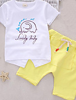 Girls' Embroidered Sets,Polyester Summer Short Sleeve Clothing Set