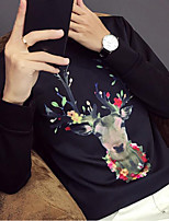 Men's Daily Casual Sweatshirt Animal Print Round Neck Micro-elastic Cotton Long Sleeve Spring