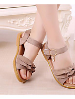 Girls' Flats First Walkers Leatherette Spring Fall Casual Walking First Walkers Magic Tape Low Heel Khaki Blushing Pink Army Green Flat