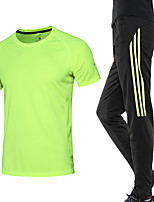 Men's Short Sleeve Running Clothing Suits Moisture Wicking Summer Sports Wear Running/Jogging Loose