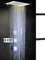 LED Bath Shower Faucet / 50X36 CM Rain Bathroom Shower head / Sidespray / Brass Hand Shower Included / Hot And Cold Shower Mixer Valve
