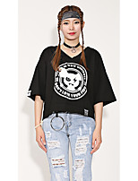 Damen Tarnfarben Mit Mustern Einfach Street Schick Punk & Gothic Strasse Ausgehen Lässig/Alltäglich Athlässigkeit T-shirt,