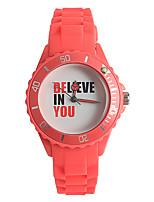 Жен. Модные часы Японский Кварцевый / силиконовый Группа Повседневная Красный