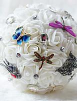 Свадебные цветы Букеты Свадебное белье Шифон Бусины 21 см