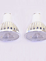 3W LED Spotlight GU10 3 High Power LED 260-300 Lm Warm White/White Dimmable AC220-24 V 2Pcs