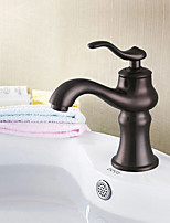 Antique Centerset with Single Handle One Hole for  Oil-rubbed Bronze  Bathroom Basin Sink Faucet