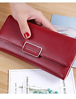 Women Money Clip PU All Seasons Casual Square Magnetic Ruby Fuchsia Black
