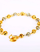 Luxury Mixed Two Color Gold and Silver Lucky Beads Chain Bracelet Fashion Vintage Jewelry