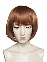Capless Short Bob Wig Synthetic Fiber Wig Straight Women Wig