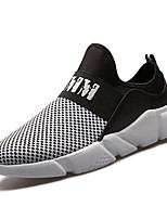 Men's Sneakers Light Soles Summer Fall Tulle Casual Outdoor Low Heel White Black Under 1in