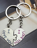 Material Keychain Favors-6 Pairs/Set Love  key Ring  Favors