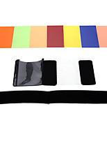 Andoer® Kit de Filtros Cuadrados de 7 Colors de Speedlite Universal con Corea Mgica para Canon Nikon Sony Olympus Pentax y Otros Flashes