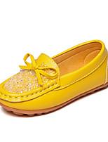 Девочки Мокасины и Свитер Удобная обувь Мокасины Полиуретан Весна Осень Повседневные Для праздника Удобная обувь Мокасины Стразы БантНа