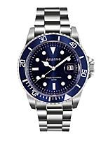 Муж. Нарядные часы Модные часы Кварцевый Фосфоресцирующий Нержавеющая сталь Группа Повседневная Серебристый металл