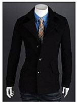 Men's Padded Coat,Simple Active Daily Casual Solid-Cotton Polyester Cotton Blend Polyester Cotton Long Sleeve