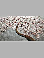 Ручная роспись Цветочные мотивы/ботанический Модерн 1 панель Холст Hang-роспись маслом For Украшение дома