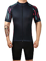FUALRNY® Cycling Jersey with Bib Shorts Men's Short Sleeves Bike Clothing Suits Cycling Quick Dry Compression High Elasticity