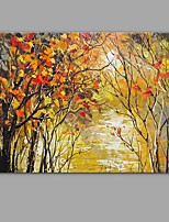 Hand-Painted Knife The river Flowing water Scenery Oil Painting Wall Art With Stretcher Frame Ready To Hang