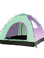 LINGNIU® 3-4 personnes Tente Unique Tente de camping Tente automatique Garder au chaud Etanche Protection Solaire 1000-1500 mm pour