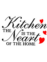 Wall Stickers Wall Decals Kitchen English Words & Quotes PVC Wall Stickers