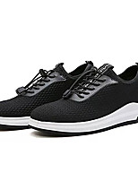 Men's Sneakers Light Soles Spring Fall Tulle Casual Lace-up Flat Heel Black Gray Blue 2in-2 3/4in