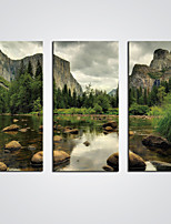 Stretched Canvas Print Cloudy Mountain and Lake Giclee Print Landscape Art for  Wall Decoration Ready to Hang