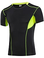 Men's Running T-Shirt Short Sleeves Fitness, Running & Yoga Quick Dry Compression Clothing Top for Yoga Running/Jogging Exercise &