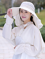 Women's Fashion Net Handmade Flowers White Black Royal Blue Beauty Sun Hat & Hats