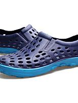 Men's Sandals Comfort Rubber Spring Casual Black Gray Blue Flat